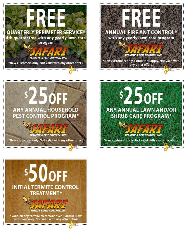 Pest Control In Boutte Mail: Exterminator Coupons Jacksonville